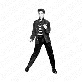 ELVIS PRESLEY SHAKING MUSIC T-SHIRT IRON-ON TRANSFER DECAL #MEP6