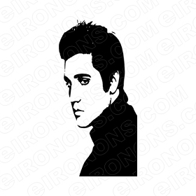 ELVIS PRESLEY SIDE VIEW MUSIC T-SHIRT IRON-ON TRANSFER DECAL #MEP8