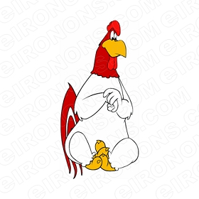 FOGHORN LEGHORN SITTING CHARACTER T-SHIRT IRON-ON TRANSFER DECAL #CFL5