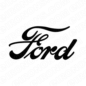 FORD TEXT LOGO AUTO T-SHIRT IRON-ON TRANSFER DECAL #AFL4