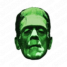 FRANKENSTEIN BIG HEAD HALLOWEEN T-SHIRT IRON-ON TRANSFER DECAL #FSH1