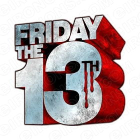 FRIDAY THE 13TH LOGO GREY AND RED MOVIE T-SHIRT IRON-ON TRANSFER DECAL #JVH5
