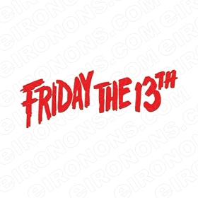 FRIDAY THE 13TH LOGO RED MOVIE T-SHIRT IRON-ON TRANSFER DECAL #JVH7