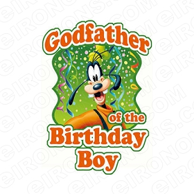 GODFATHER OF THE BIRTHDAY BOY SAYINGS T-SHIRT IRON-ON TRANSFER DECAL #BS17