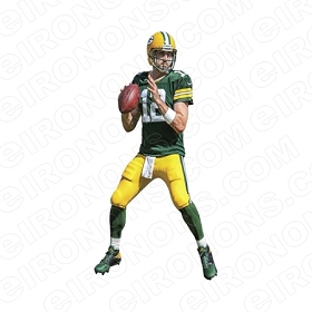 GREEN BAY PACKERS AARON RODGERS SPORTS NFL FOOTBALL T-SHIRT IRON-ON TRANSFER DECAL #GBP11