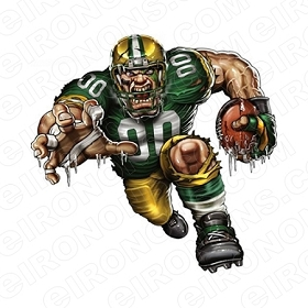 GREEN BAY PACKERS ANGRY PACKER SPORTS NFL FOOTBALL T-SHIRT IRON-ON TRANSFER DECAL #GBP1