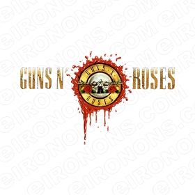GUNS N' ROSES LOGO MUSIC T-SHIRT IRON-ON TRANSFER DECAL #MGNR2