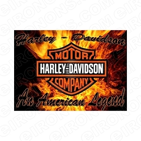 HARLEY-DAVIDSON AN AMERICAN LEGEND MOTORCYCLE T-SHIRT IRON-ON TRANSFER DECAL #MCHD2