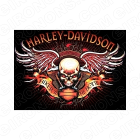 HARLEY-DAVIDSON BIKER TO THE BONE MOTORCYCLE T-SHIRT IRON-ON TRANSFER DECAL #MCHD3