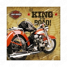 HARLEY-DAVIDSON KING OF THE ROAD! MOTORCYCLE T-SHIRT IRON-ON TRANSFER DECAL #MCHD6