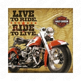 HARLEY-DAVIDSON LIVE TO RIDE RIDE TO LIVE MOTORCYCLE T-SHIRT IRON-ON TRANSFER DECAL #MCHD9