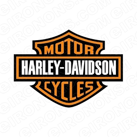 HARLEY-DAVIDSON LOGO MOTORCYCLE T-SHIRT IRON-ON TRANSFER DECAL #MCHD10