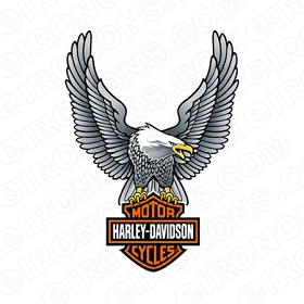 HARLEY-DAVIDSON UP WING EAGLE MOTORCYCLE T-SHIRT IRON-ON TRANSFER DECAL #MCHD13