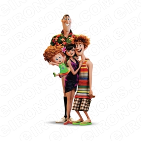 HOTEL TRANSYLVANIA 3 GROUP POSE MOVIE T-SHIRT IRON-ON TRANSFER DECAL MHT14