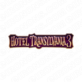HOTEL TRANSYLVANIA 3 LOGO MOVIE T-SHIRT IRON-ON TRANSFER DECAL MHT15