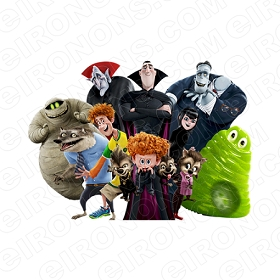 HOTEL TRANSYLVANIA GROUP POSE MOVIE T-SHIRT IRON-ON TRANSFER DECAL MHT19