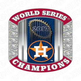 HOUSTON ASTROS 2017 WORLD SERIES CHAMPIONS SPORTS MLB BASEBALL T-SHIRT IRON-ON TRANSFER DECAL #HA7
