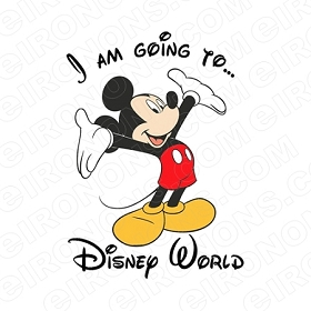 I AM GOING TO DISNEY WORLD DISNEY VACATION T-SHIRT IRON-ON TRANSFER DECAL #DV5
