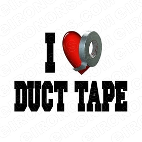 I LOVE DUCT TAPE CASEY ANTHONY T-SHIRT IRON-ON TRANSFER DECAL #DTCA1