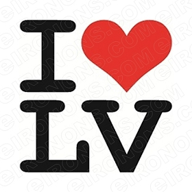 I LOVE LAS VEGAS T-SHIRT IRON-ON TRANSFER DECAL #LVS2