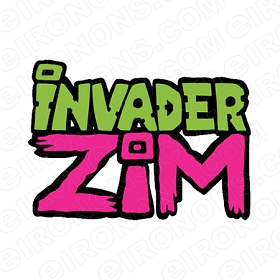 INVADER ZIM LOGO CHARACTER T-SHIRT IRON-ON TRANSFER DECAL #CIZ1