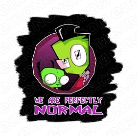 INVADER ZIM WE ARE PERFECTLY NORMAL CHARACTER T-SHIRT IRON-ON TRANSFER DECAL #CIZ13