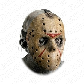 JASON VOORHEES BIG HEAD FRIDAY THE 13TH MOVIE T-SHIRT IRON-ON TRANSFER DECAL #JVH11