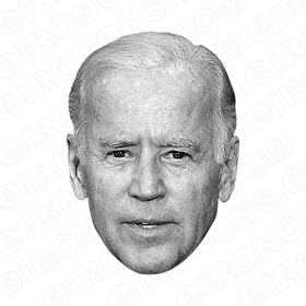 JOE BIDEN BLACK AND WHITE BIG HEAD POLITICAL DEMOCRAT T-SHIRT IRON-ON TRANSFER DECAL #PDJB3