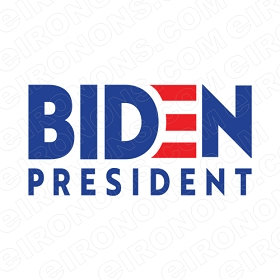 JOE BIDEN FOR PRESIDENT LOGO POLITICAL DEMOCRAT T-SHIRT IRON-ON TRANSFER DECAL #PDJB4