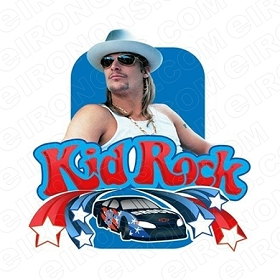KID ROCK RACING MUSIC T-SHIRT IRON-ON TRANSFER DECAL #KR4