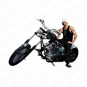 KID ROCK SITTING ON MOTORCYCLE MUSIC T-SHIRT IRON-ON TRANSFER DECAL #KR2