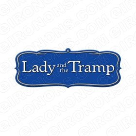 LADY AND THE TRAMP LOGO CHARACTER T-SHIRT IRON-ON TRANSFER DECAL #CLATT1