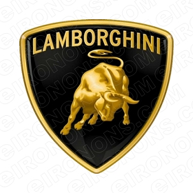 LAMBORGHINI LOGO AUTO T-SHIRT IRON-ON TRANSFER DECAL #AL1
