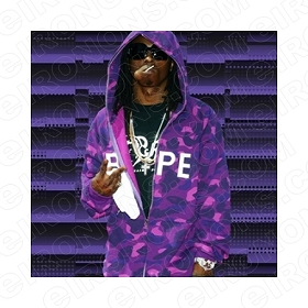 LIL WAYNE PEACE MUSIC T-SHIRT IRON-ON TRANSFER DECAL #MLW2