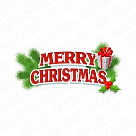 MERRY CHRISTMAS HOLIDAY T-SHIRT IRON-ON TRANSFER DECAL #HC10