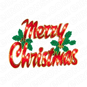 MERRY CHRISTMAS HOLIDAY T-SHIRT IRON-ON TRANSFER DECAL #HC11