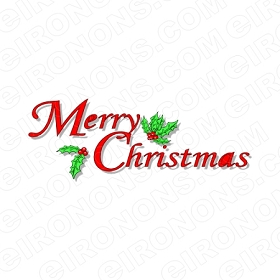 MERRY CHRISTMAS HOLIDAY T-SHIRT IRON-ON TRANSFER DECAL #HC4