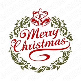 MERRY CHRISTMAS HOLIDAY T-SHIRT IRON-ON TRANSFER DECAL #HC9