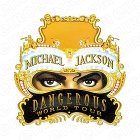 MICHAEL JACKSON DANGEROUS WORLD TOUR MUSIC T-SHIRT IRON-ON TRANSFER DECAL #MMJ2