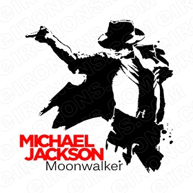 MICHAEL JACKSON MOONWALKER MUSIC T-SHIRT IRON-ON TRANSFER DECAL #MMJ8