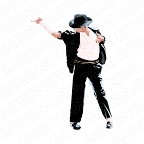 MICHAEL JACKSON POINTING MUSIC T-SHIRT IRON-ON TRANSFER DECAL #MMJ9