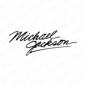 MICHAEL JACKSON SIGNATURE MUSIC T-SHIRT IRON-ON TRANSFER DECAL #MMJ10