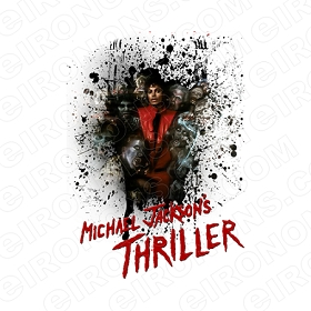 MICHAEL JACKSON THRILLER MUSIC T-SHIRT IRON-ON TRANSFER DECAL #MMJ11