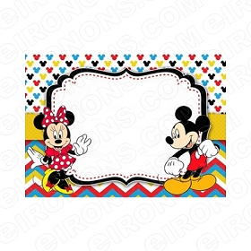 MICKEY MOUSE BLANK EDITABLE INVITATION INSTANT DOWNLOAD #IMM1