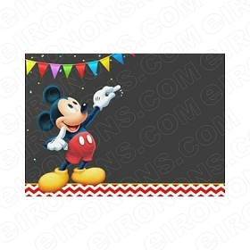 MICKEY MOUSE BLANK EDITABLE INVITATION INSTANT DOWNLOAD #IMM5