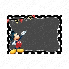 MICKEY MOUSE BLANK EDITABLE INVITATION INSTANT DOWNLOAD #IMM6