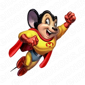 MIGHTY MOUSE FLYING CHARACTER T-SHIRT IRON-ON TRANSFER DECAL #CMIM2