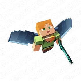 MINECRAFT CHARACTER VIDEO GAME T-SHIRT IRON-ON TRANSFER DECAL #VMC1