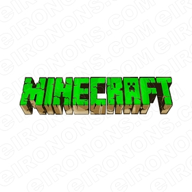 MINECRAFT LOGO GREEN VIDEO GAME T-SHIRT IRON-ON TRANSFER DECAL #VMC5