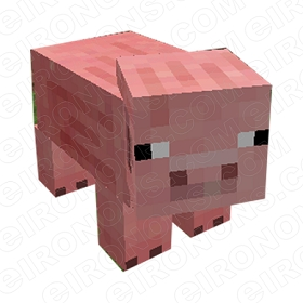 MINECRAFT PIG VIDEO GAME T-SHIRT IRON-ON TRANSFER DECAL #VMC7